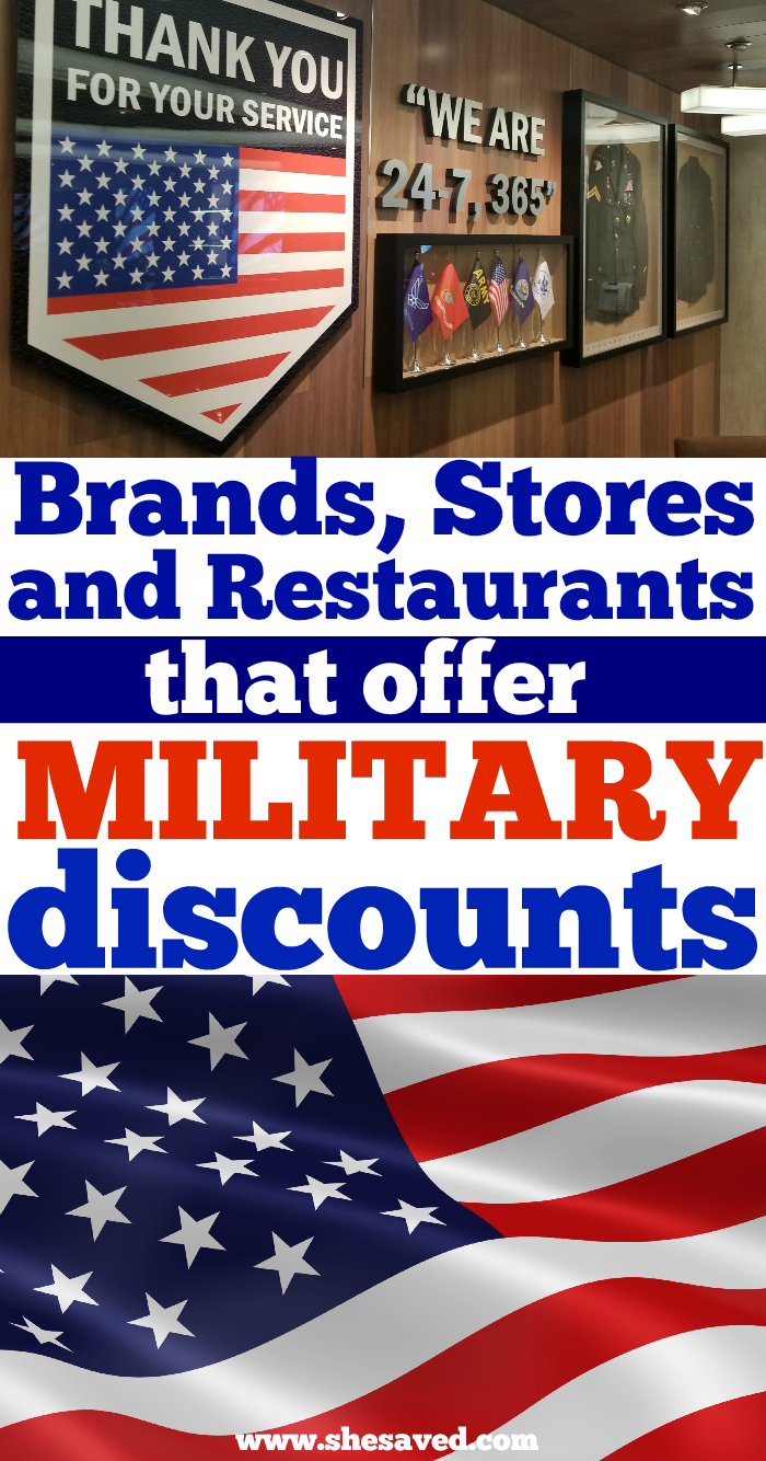 Brands that Offer Military Discounts