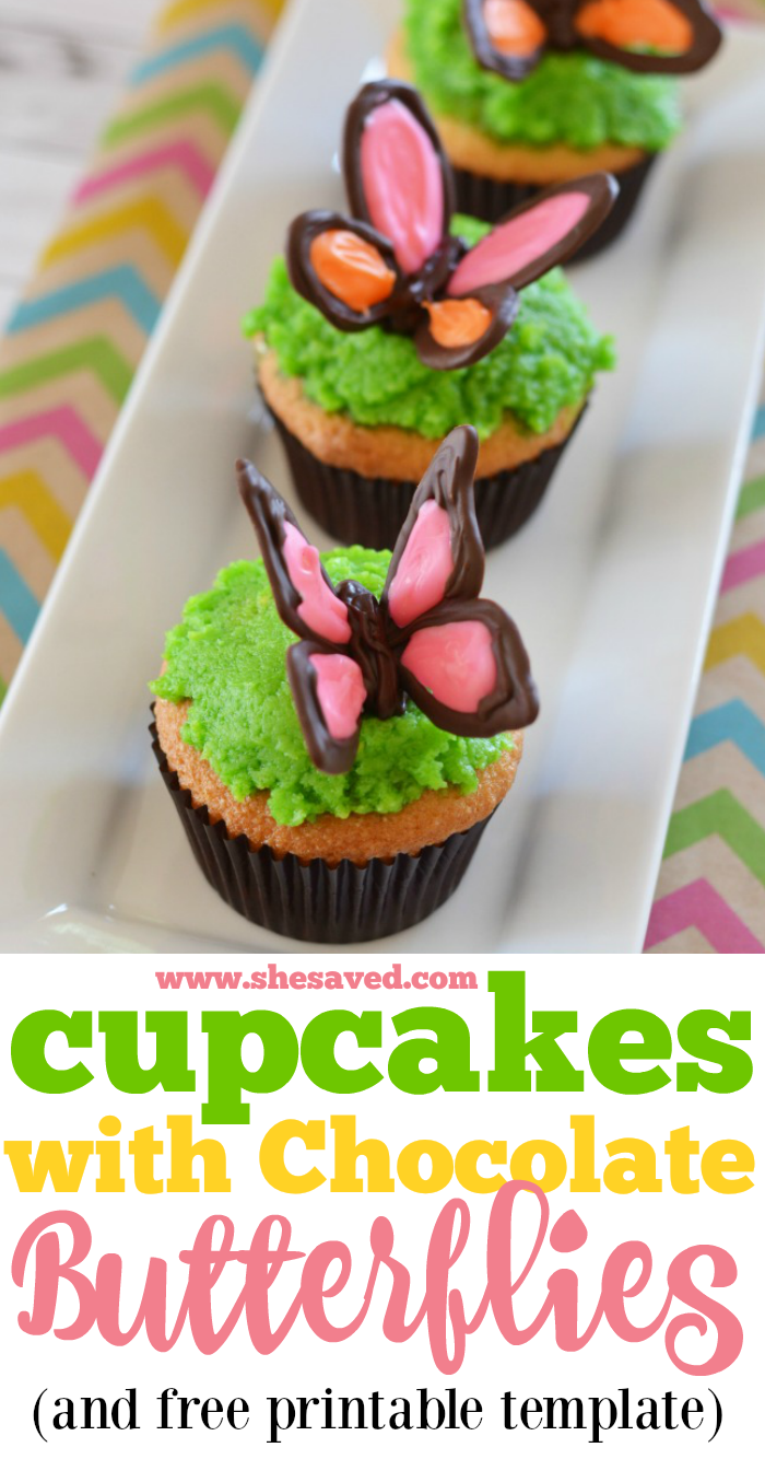 Chocolate Butterfly Cupcakes are perfect for Spring!