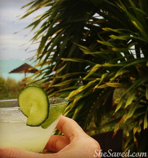 Cheers from Beaches where drinks and food are all-inclusive !