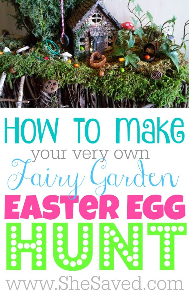 This fun Fairy Garden Easter Egg Hunt activity is such a fun way to add a little fairy magic to your Easter! The kids will LOVE it and so will you! ~ from SheSaved.com
