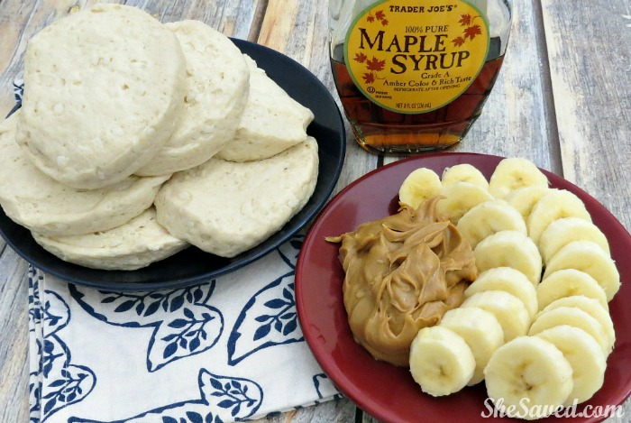 Here's a fun mom hack: Peanut Butter Waffles! Quick and easy and a great new breakfast idea!