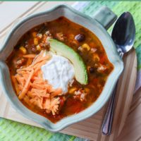 Easy Slow Cooker Chicken Taco Soup Recipe