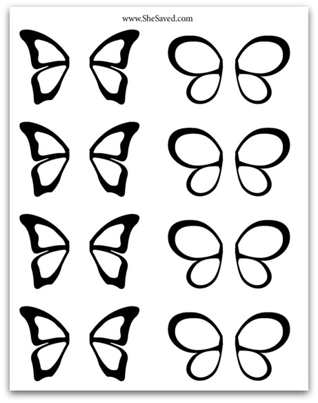 Print out this free chocolate butterfly pattern to make your own chocolate butterflies!