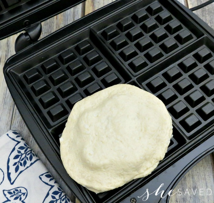 grands in the waffle maker