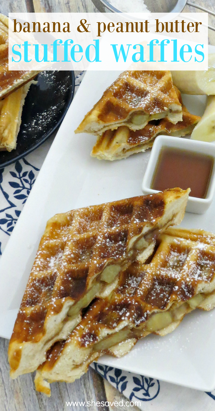 Make these stuffed waffles in your waffle iron with Grands!