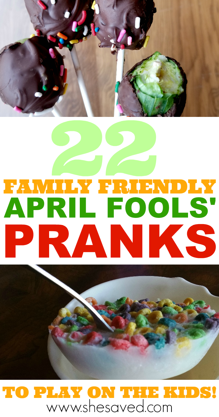 Family Friendly April Fools' Day Pranks to Play on the Kids!