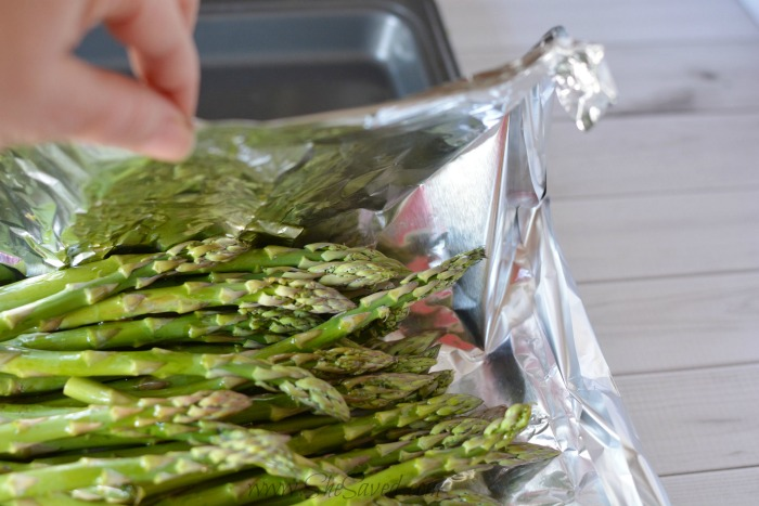 Coating Asparagus With Oil