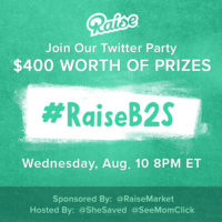 RSVP Here! #RaiseB2S Twitter Party August 10 at 8pm ET ($400 in Prizes!)
