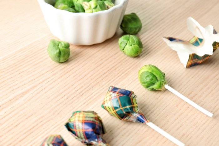 Brussels Spouts Suckers for April Fool's Day Prank