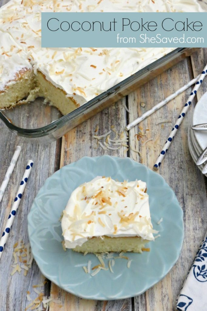 Hands down this Coconut Poke Cake Recipe is the very best and will make you an award winning style dessert that your whole family will love. This is a great dessert to make for state fair competitions too, just sayin!