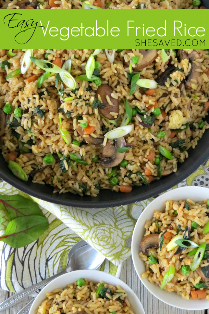 Dinner doesn't have to be a struggle! My Easy Vegetable Fried Rice Recipe is not only quick and yummy, but a healthy dinner option as well!