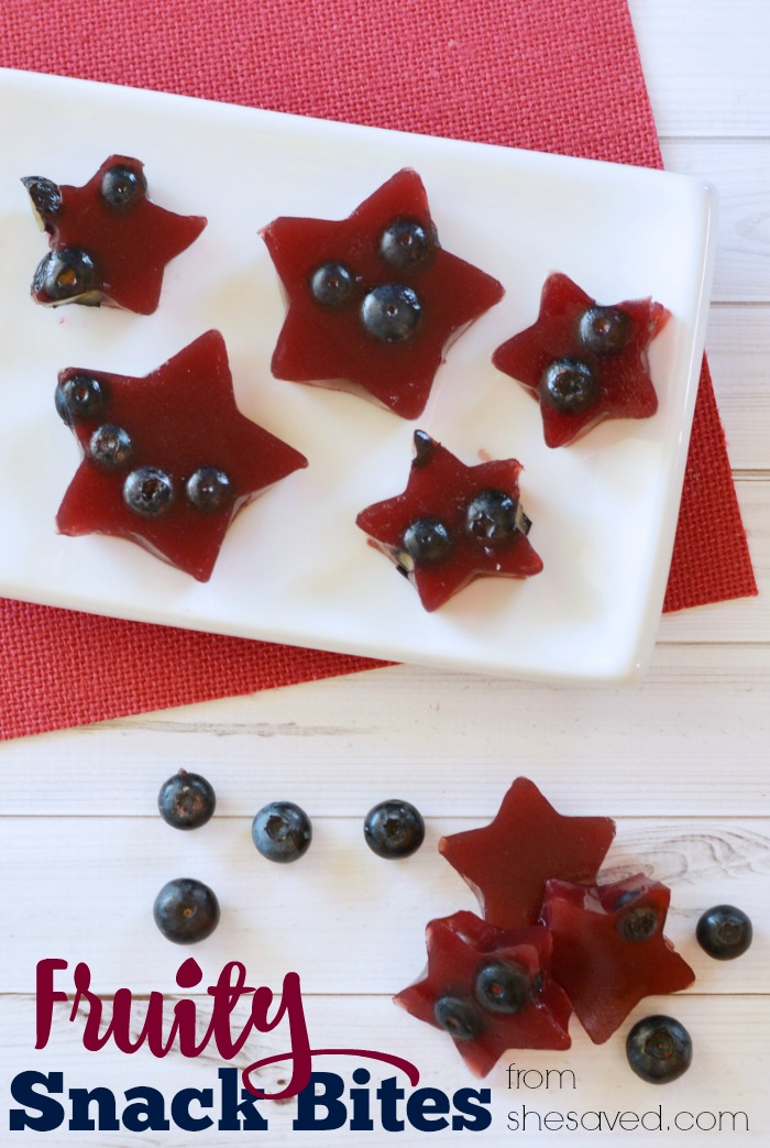 Looking for an easy and simple snack for the kiddos? Try these Fruity Gelatin Snack Bites! These homemade fruit snacks are yummy and fun to eat as well, great for snack time treats! ~from SheSaved