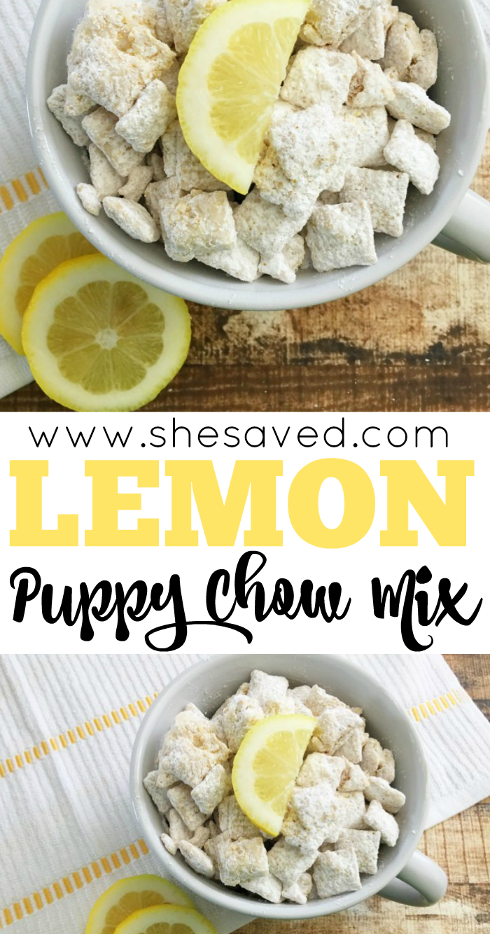 Lemon Puppy Chow Mix