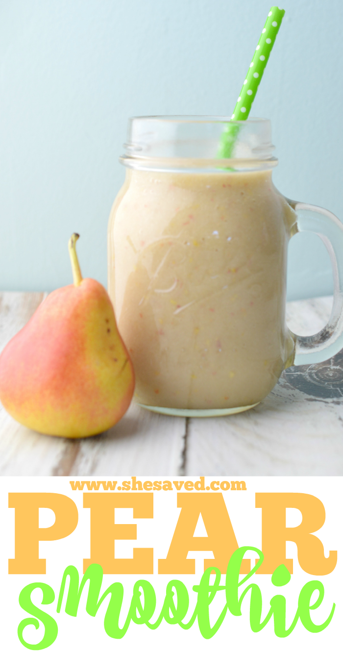 Easy Pear Smoothie made with banana and apple juice