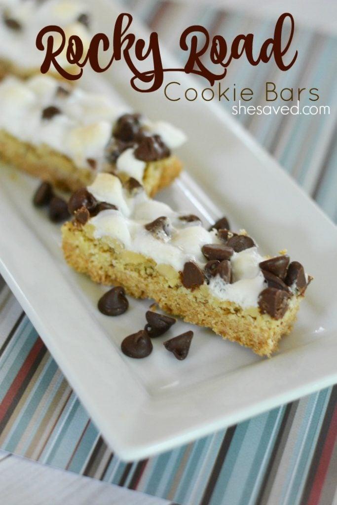 Rocky Road Cookie Bar Recipe