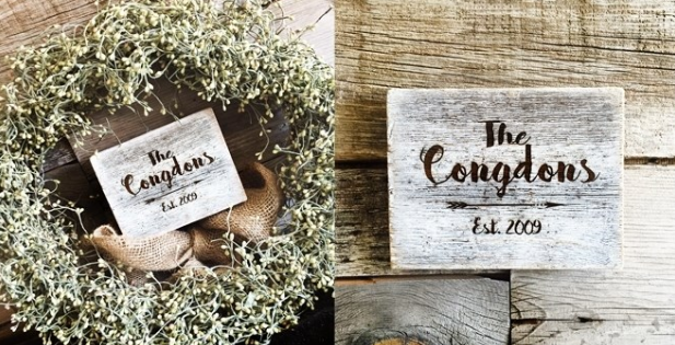 Rustic Sign for Wedding