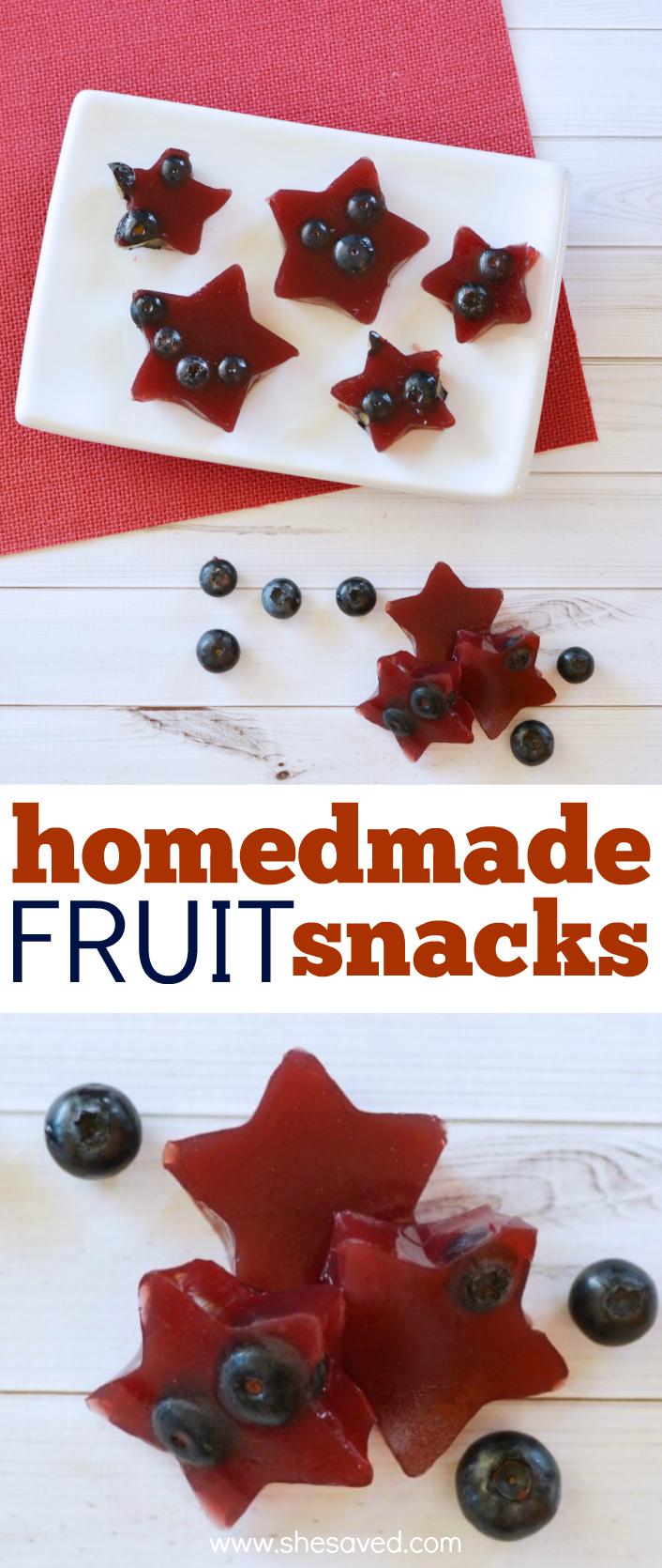 Recipe for homemade fruit snacks