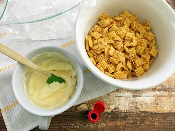 Lemon Coating for Puppy chow Mix Recipe
