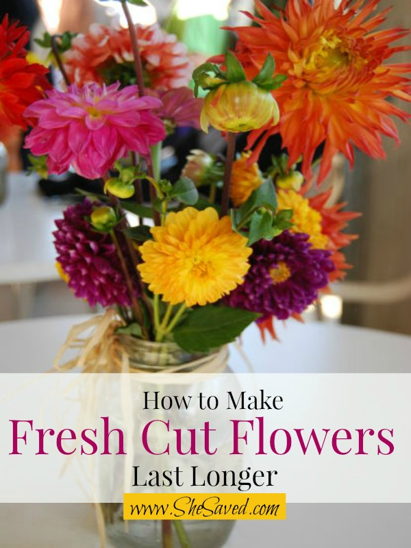 how to make cut flowers last shesaved. Black Bedroom Furniture Sets. Home Design Ideas