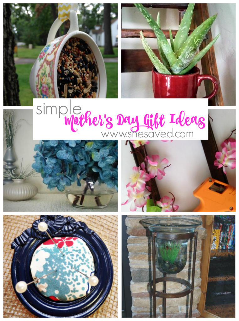 Looking for Mother's Day gift ideas? Here are some simple Mothers Day gift ideas that will be easy on the budget, but will make mom smile.