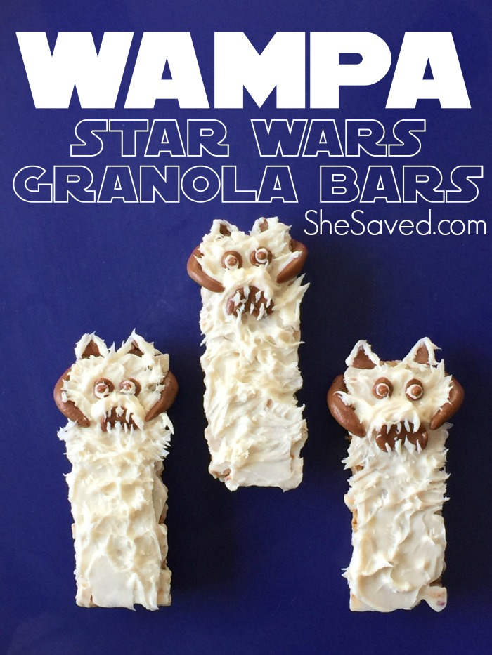 These Wampa Star Wars Treat Bars are so easy to make and will be a hit at your Star Wars Party!