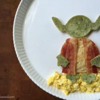 Star Wars Breakfast: YODA Bacon Egg & Pancake Plate