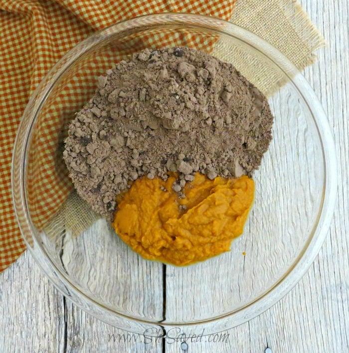 Making Sweet Potato Brownies