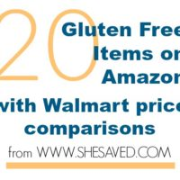 20 Gluten Free Items on Amazon (with Walmart Price Comparisons!)