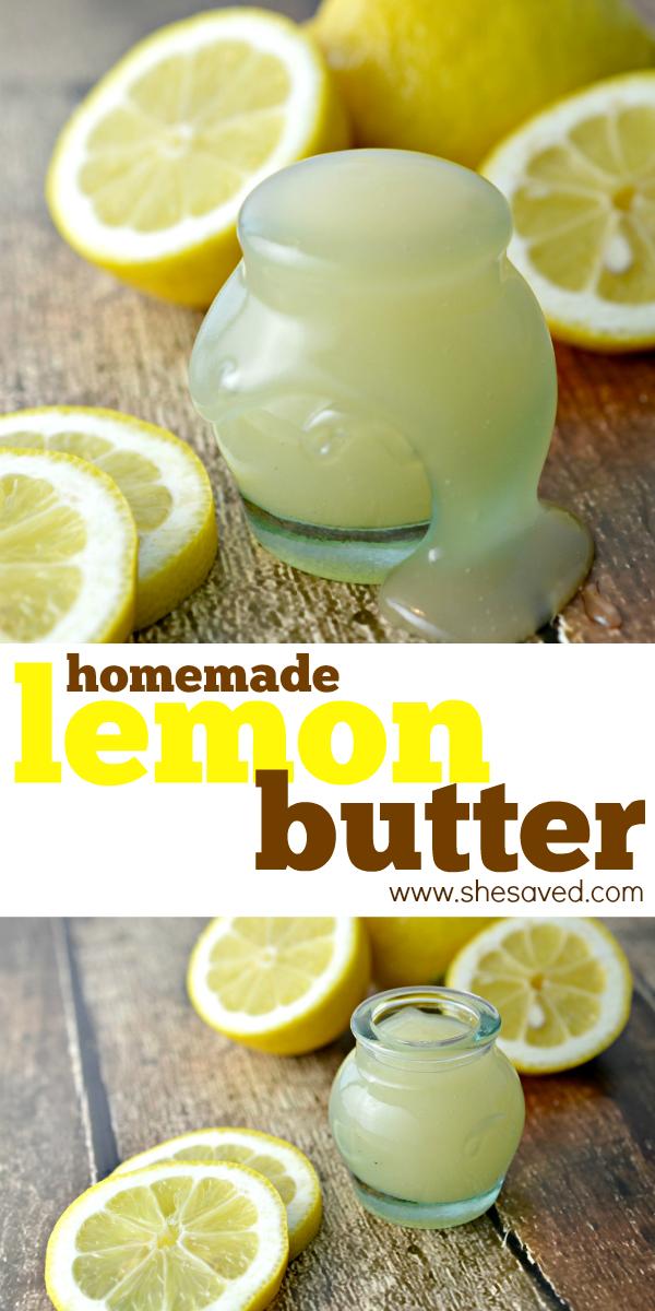 homemade sweet lemon butter