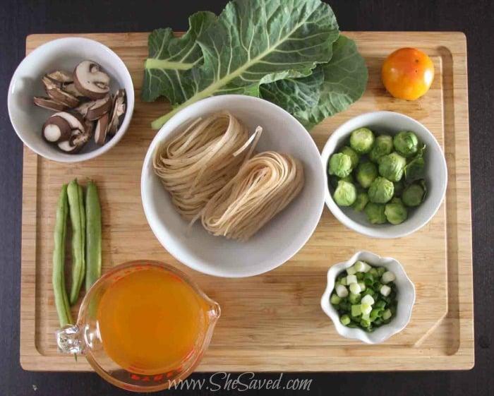 Asian Vegetable Soup Ingredients