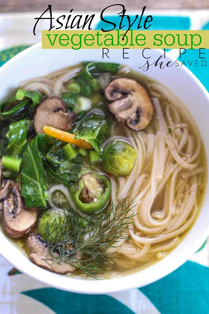 Looking for a delicious and easy veggie soup? Try my Asian Style Vegetable Soup recipe, it's perfect for crisp fall days!