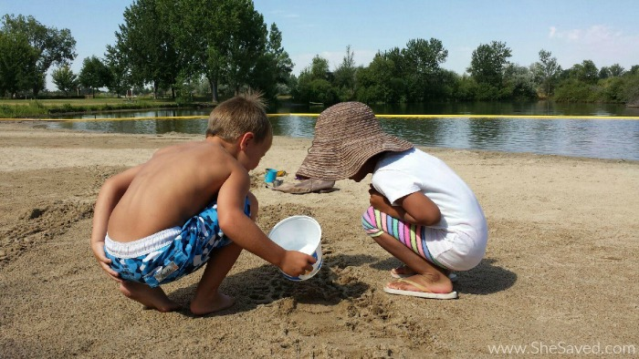 The kids will love the sandy beach and swimming area at Eagle Island State Park in Idaho!
