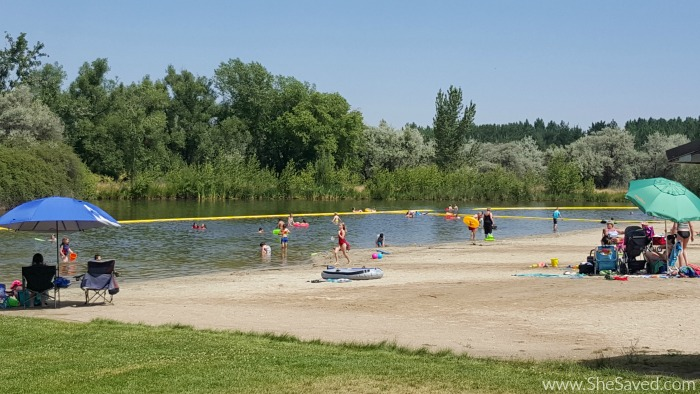 The swimming beach at Eagle Island State Park makes it fun to enjoy the water and sun!