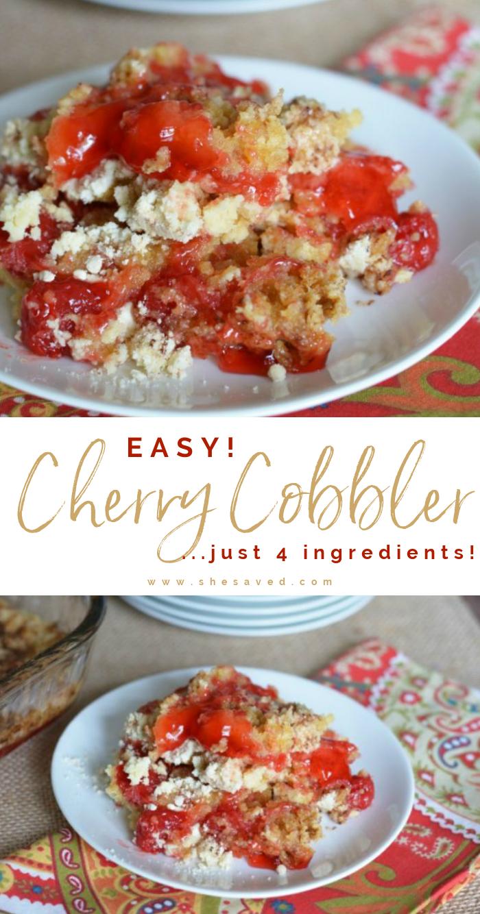 Easy Cherry Cobbler Dessert Recipe