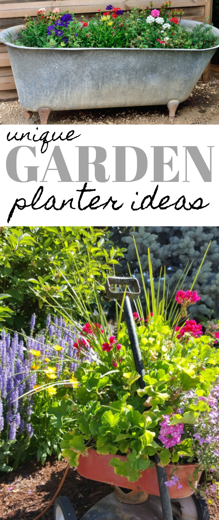 unique garden planter ideas and ways to repurpose items in the garden