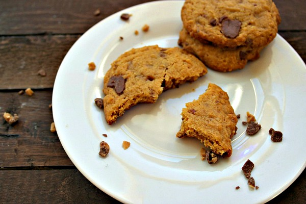 Heath Bar Cookies with Peanut Butter from A Teaspoon of Goodness