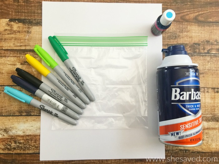 Here's a fun and easy way to set the kids up for mess free finger painting. They will love squishing the liquid around and you will love the NO mess!