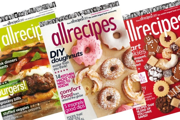 RARE! Allrecipes Magazine for ONLY $4.00 per Year!