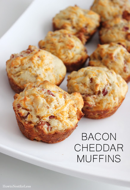 Bacon Cheddar Muffins from How to Nest for Less