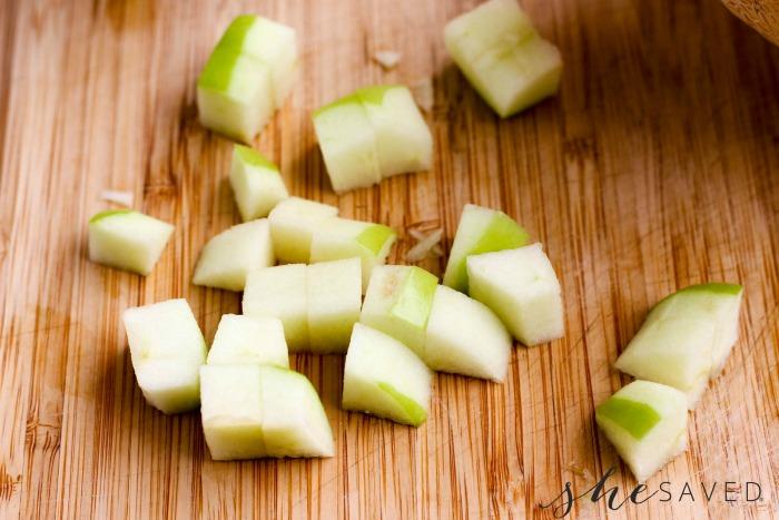 Apples Cut Up