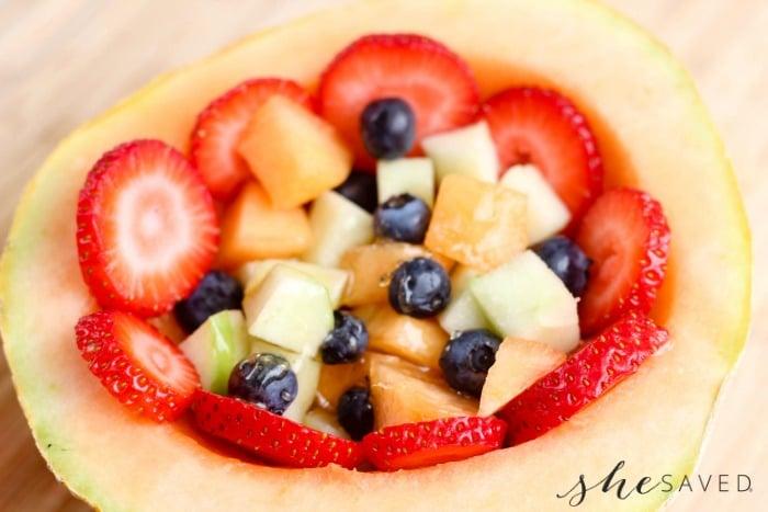 Honey Cantaloupe Fruit Bowl