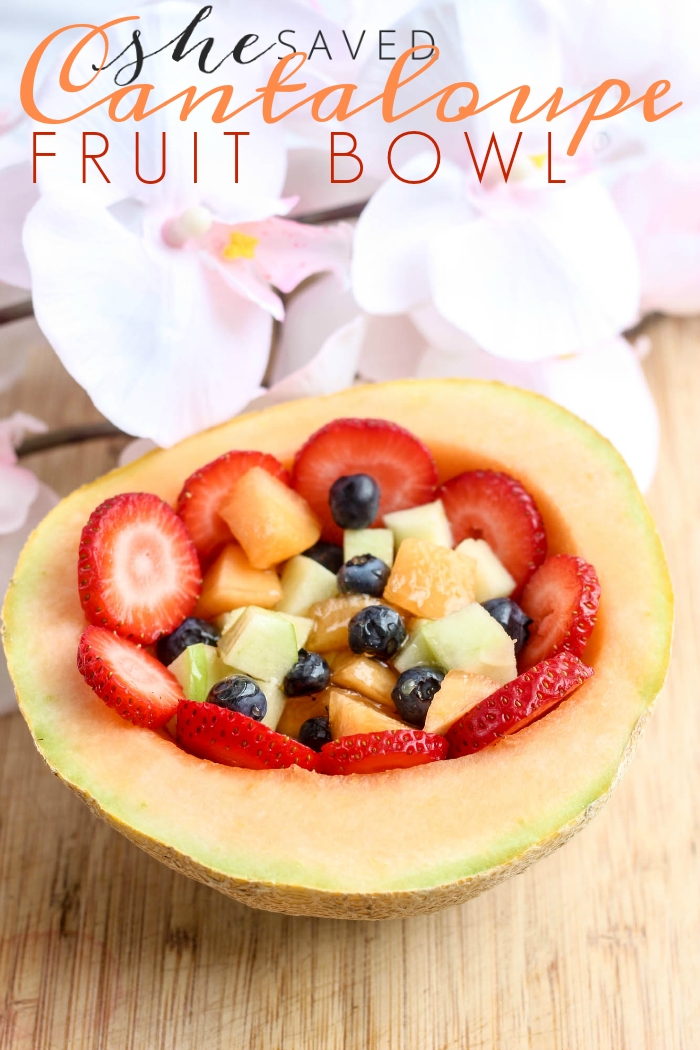 Simple and easy, this Cantaloupe Fruit Bowl Recipe is a healthy breakfast option!