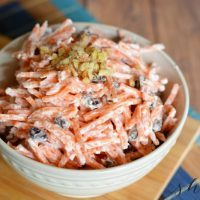 Easy Carrot Raisin Salad Side Dish