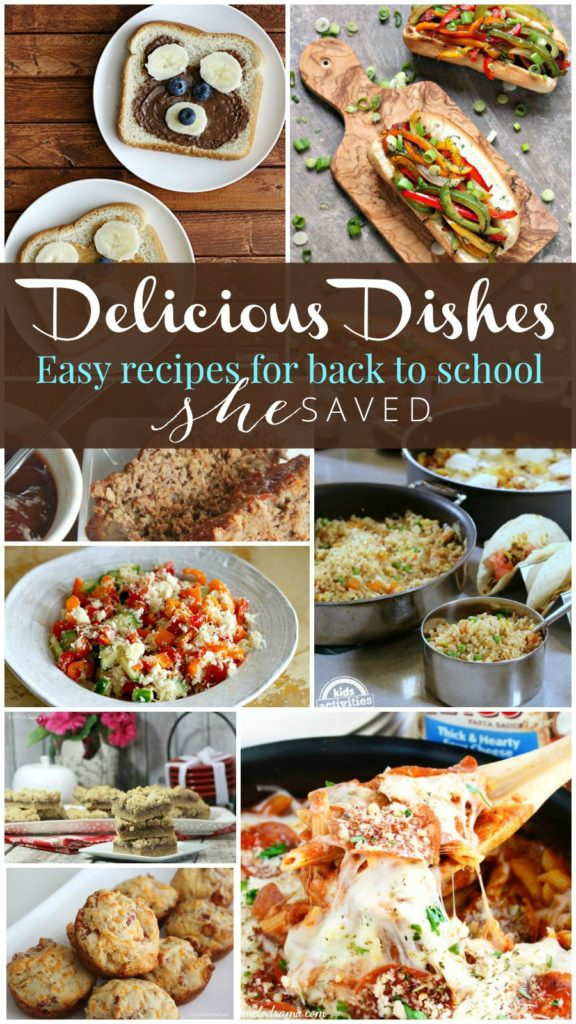 Check out these wonderful and easy recipes for back to school from our Delicious Dishes party!