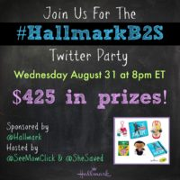 RSVP Here! #HallmarkB2S Hallmark Party August 31at 8pm ET ($425 in Prizes!)