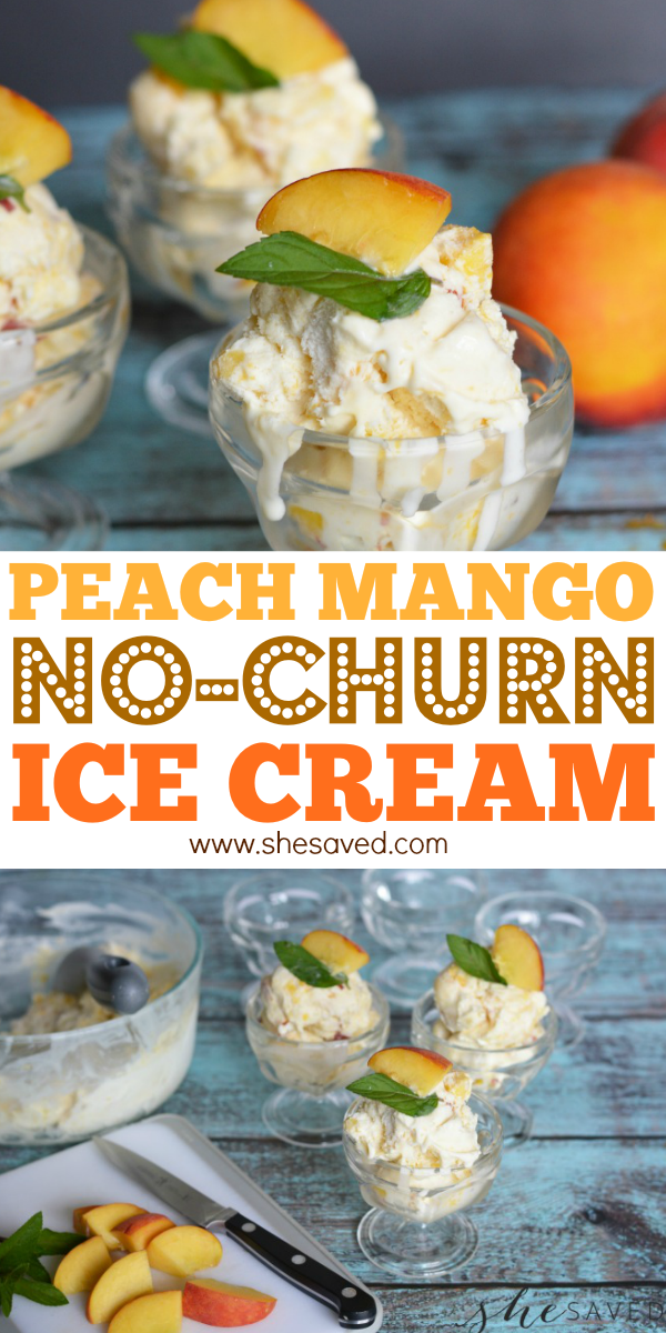 Homemade Peach Mango Ice Cream Recipe