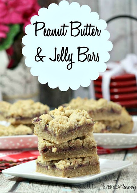 Peanut Butter and Jam Bars from Everyday Savvy