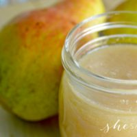 Homemade Pear Sauce