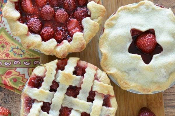 Mini Fresh Strawberry Pies