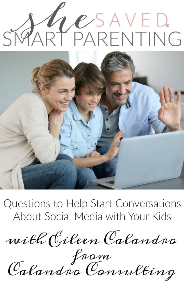 Smart parenting means opening up the lines of communication. Here are some questions to help start conversations about social media with your kids!